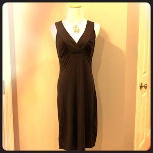 Beautiful Ann Taylor brown sleeveless dress, small